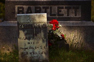 Grave of Cassandra Bartlett, West Dover, Vermont, 2010
