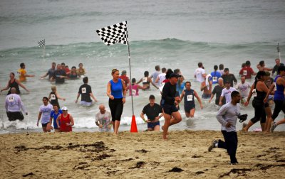 Obstacle race, Mission Beach, San Diego, California, 2010