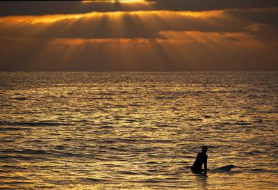 Golden God's Rays, Mission Beach, San Diego, California, 2010