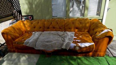 Orange couch, Mission Beach, San Diego, California, 2010