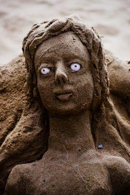 Sand sculpture, Recife, Brazil, 2010