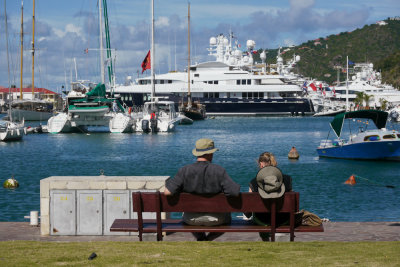 Taking a rest, St. Barts, French West Indies, 2011