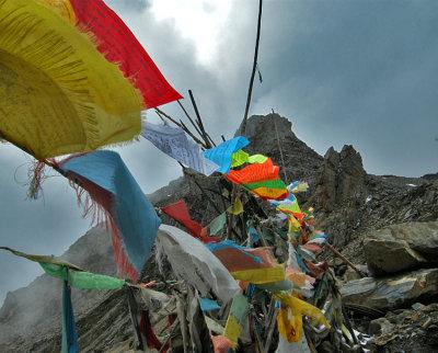 Prayers Float onto the Wind (Balang Shan, China)