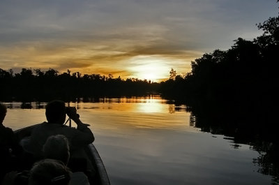 Sunset on the Fly River (Papua New Guinea)