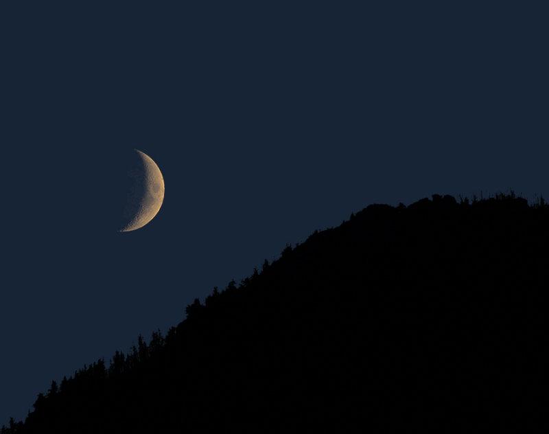 Campsite Moonset