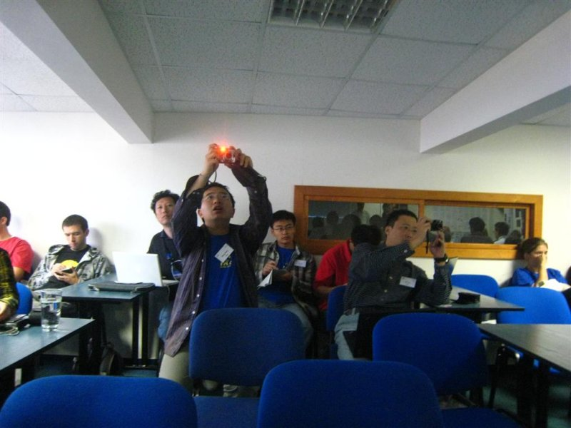 The Chinese participants photographing other participants