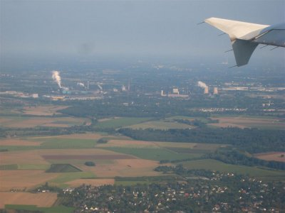 A few minutes after departure from Dusseldorf airport
