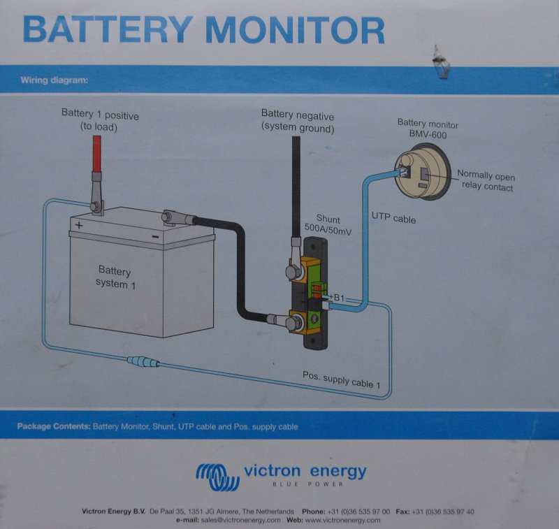 Battery Monitor Diagram photo - Compass Marine How To photos at pbase.com | Battery Gauge Wiring Diagram |  | PBase.com