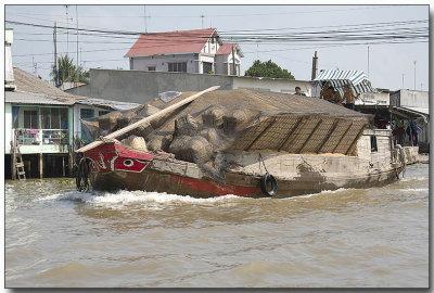 Rice Barge - Floating Market, Mekong River