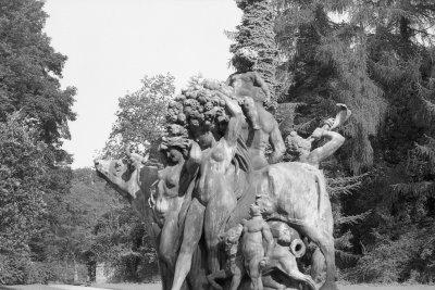 LE PARC DE MARIEMONT EN NOIR ET BLANC ANNEE 1988