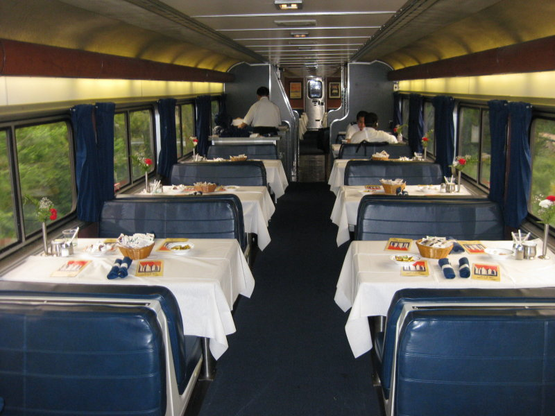 Dining Car of Amtrak Sunset Limited train