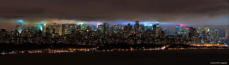 A Cloudy Night Over New York City