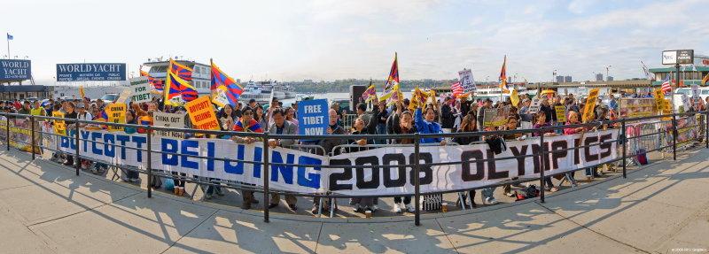 Free Tibet Now Rally Panorama