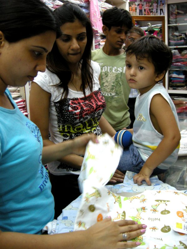 Shopping for night suits with Radhika Masi and Archana Masi