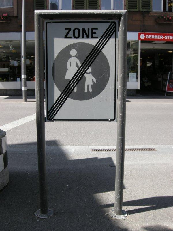 No Women and Children Zone (Interlaken, Switzerland)