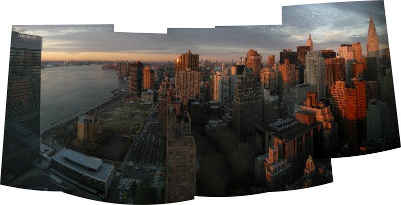 Sunrise View from Room 3119 UN Millenium Plaza Hotel (16 Oct 2010)
