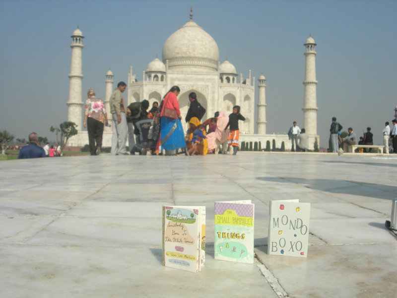 Three Small Books visit the Taj Mahal in December of 2007.