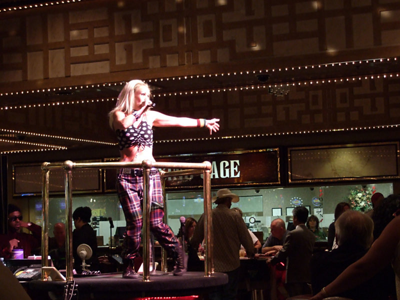 Gwen Stefani performs at the Imperial Palace casino
