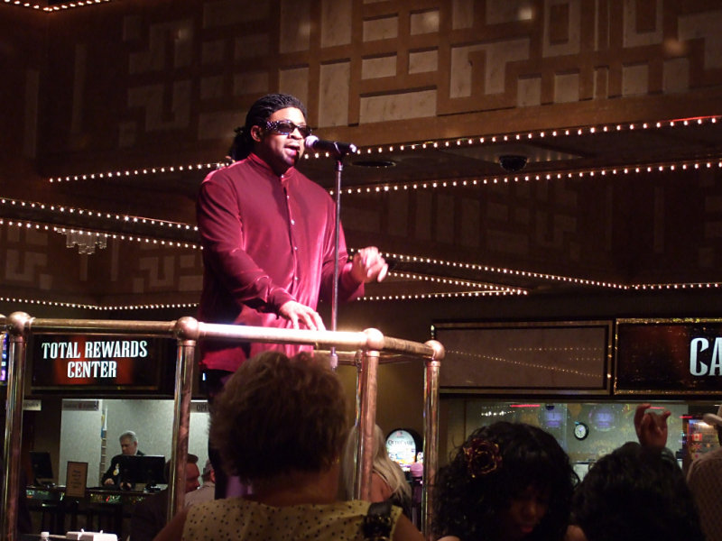 Stevie Wonder performs at the Imperial Palace casino