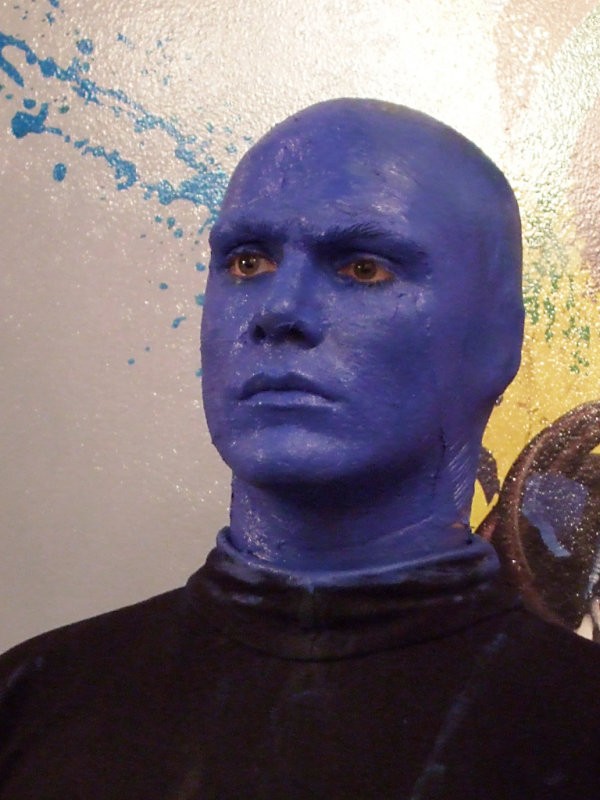 Performer from the Blue Man Group