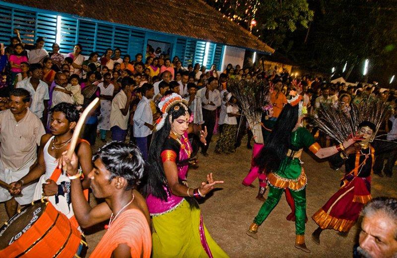 Hindu Festival Dancers, Varkala