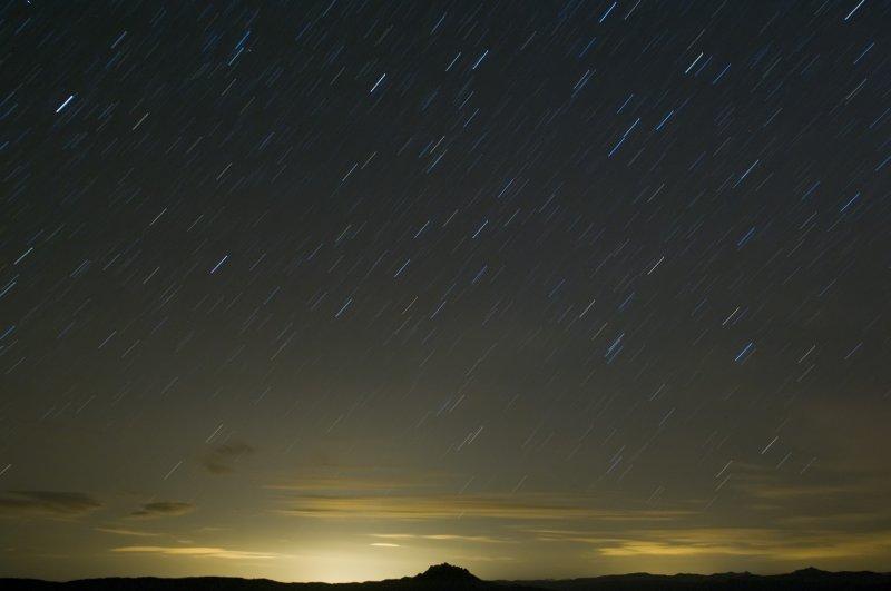 Eastward Short Star Trails