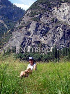 Yosemite NP mom in meadow CA