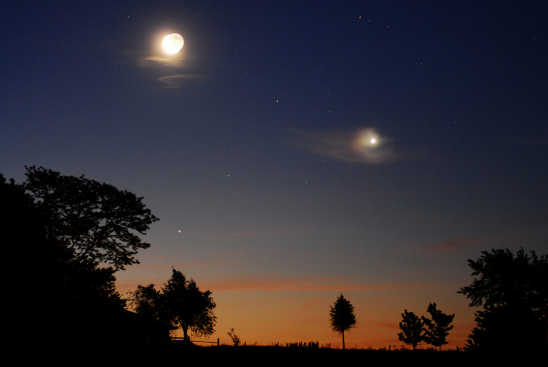 Moon, Venus, and Mars Conjunction
