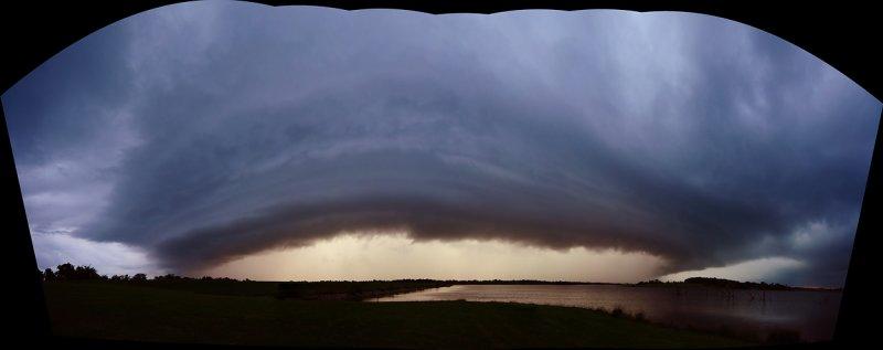 Storm Cell Approaching Mozingo Lake (Uncropped Stitch)