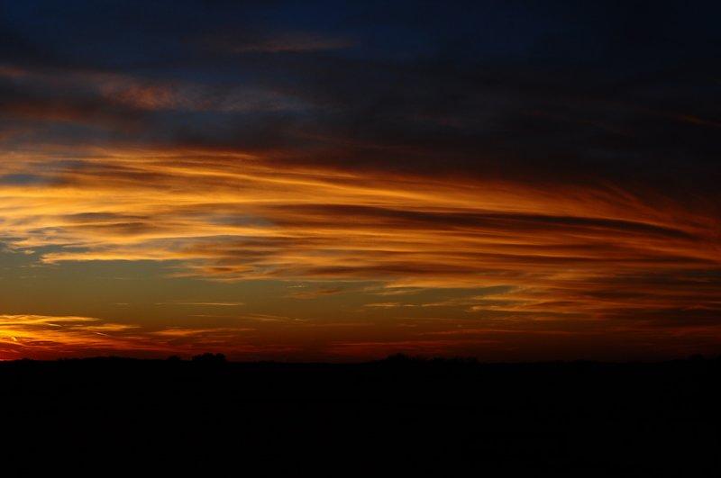 Sunset Striations