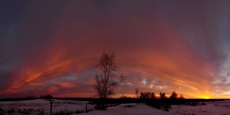 Winter Sunset Panorama
