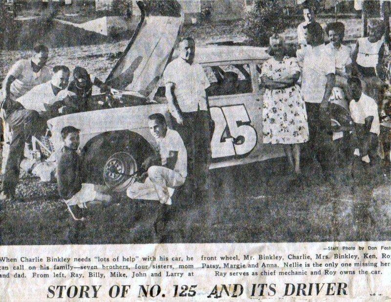 Charley Binkley story of the #125