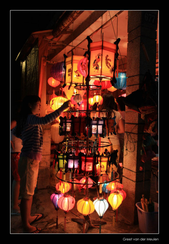9168 Hoi An, lantershop at night