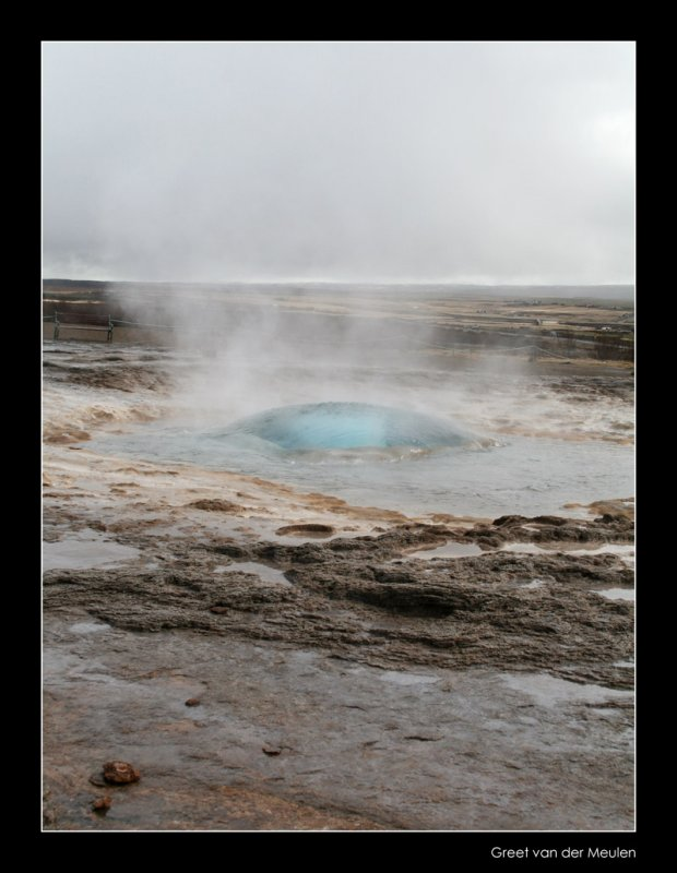 1104 Iceland, geyser before outburst