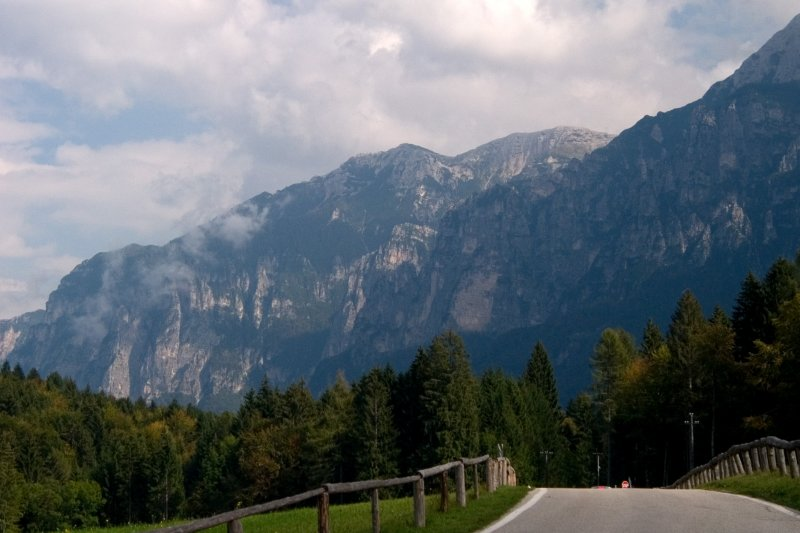 On the road from Malga Costa and the Cattedrale Vegetale
