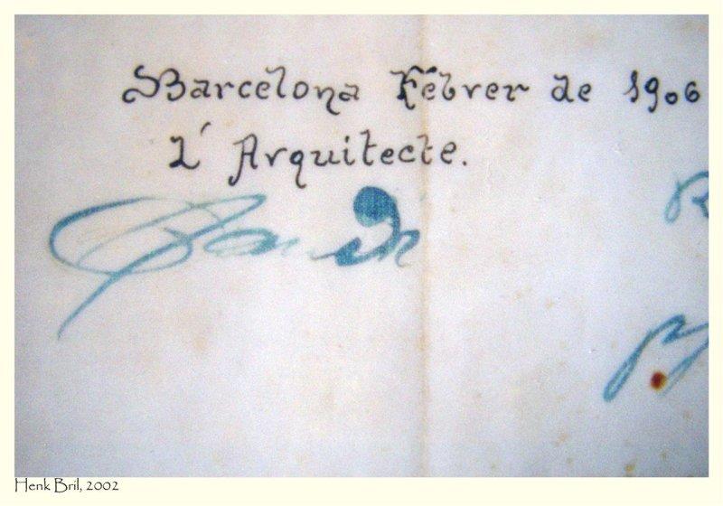 Gaudis Autograph