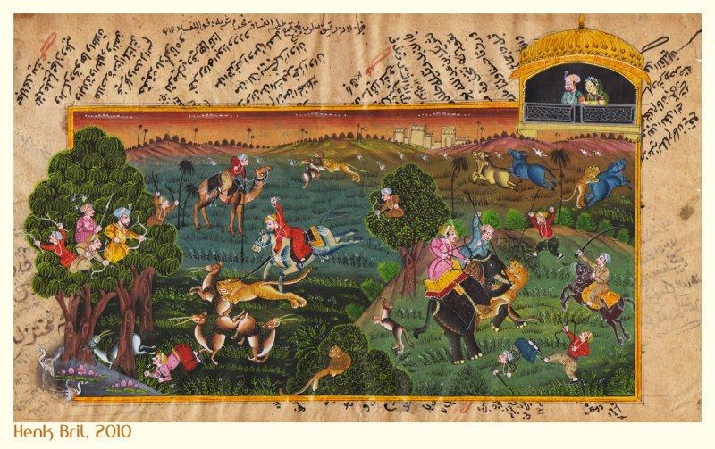 Tiger Hunt - 19th (?) Century Printing