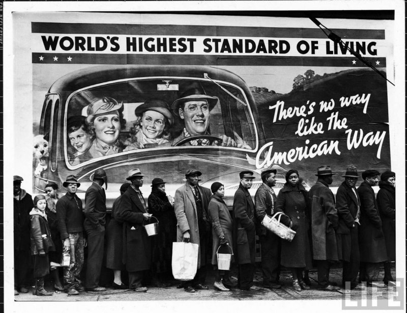 Margaret Bourke-White /1904-1971/: Worlds Highest Standard of Living, 1937
