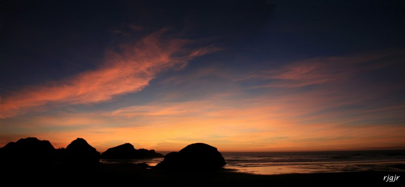 Seastack Sunset, Meyers Creek Beach, OR