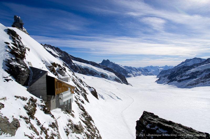 View on Aletsch glacier