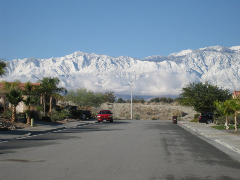 (Standing in middle of my street in Palm Desert)