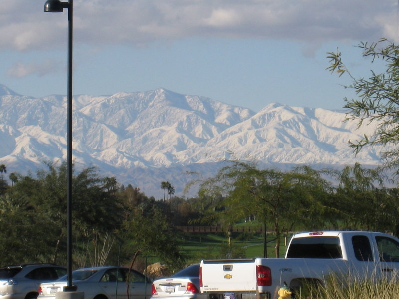 (Leaving the Rancho Mirage Library)
