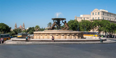 G10_0203-pano-edit.jpg Triton Fountain - Valletta bus terminus, Valletta - © A Santillo 2009