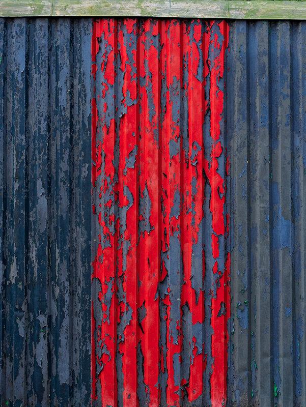 Corrugated metal building