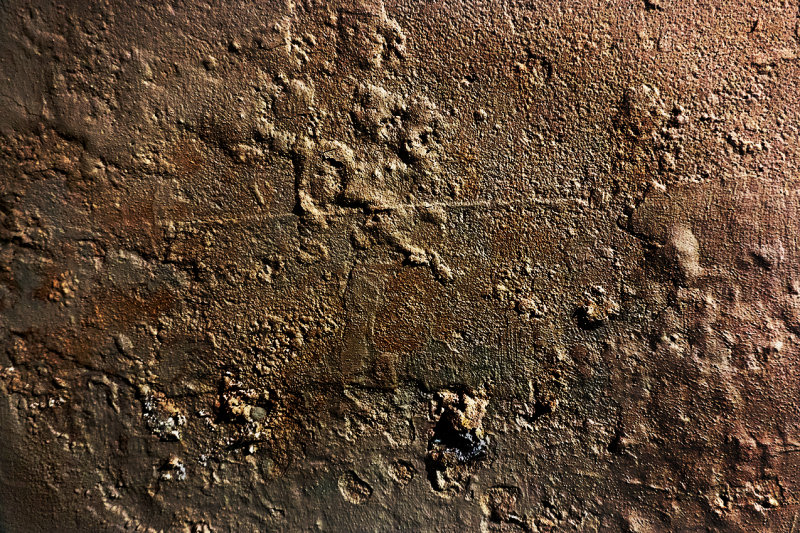 Ordinary things - patterns on a cellar wall