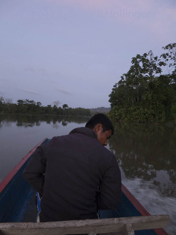 Embera Boatman on the Chucunaque River
