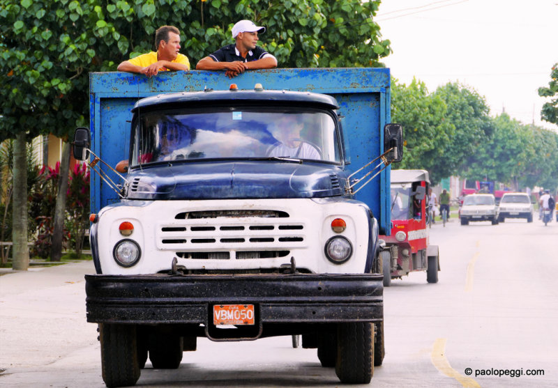 Private owned truck-bus Camion - Santa Clara,Cuba