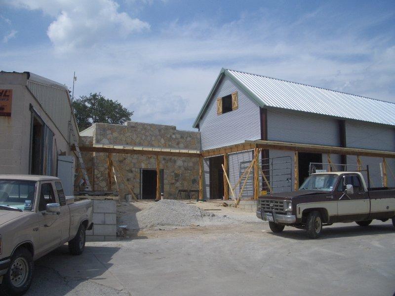 Construction photo, August 2008
