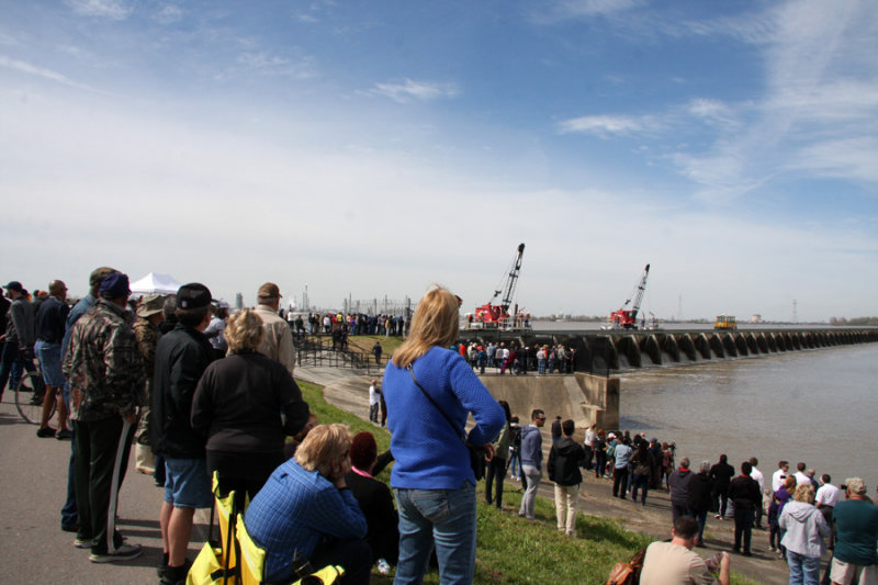 The Crowd at the 12th opening of the Bonnet Carre Spillway March 8, 2018