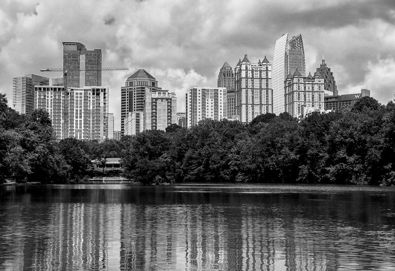 Mid Town Atlanta Viewed From Piedmont Park